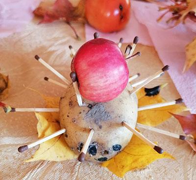 Ежик из картошки и спичек