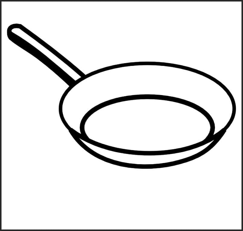 Раскраска сковорода