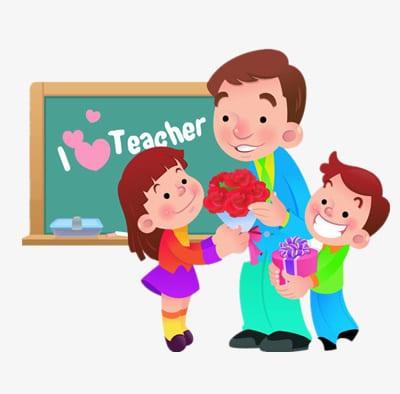 """Рисунок """"Цветы и подарки учителю"""""""