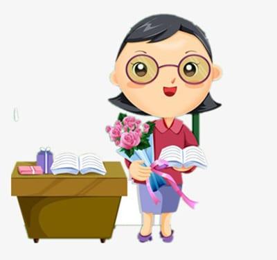 Учительница с цветами