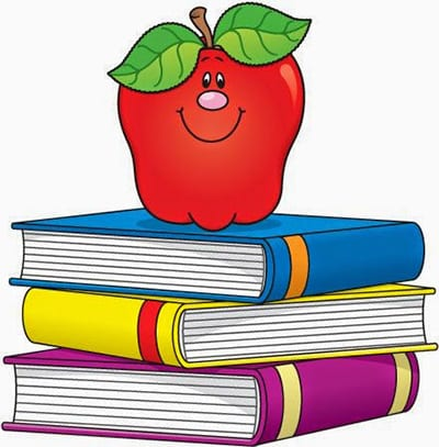 Яблоко и книги