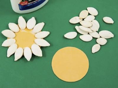 Раскладываем семечки по кругу
