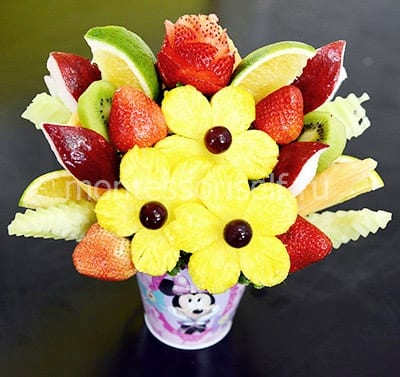 A bouquet of fruit and berries for mother's birthday