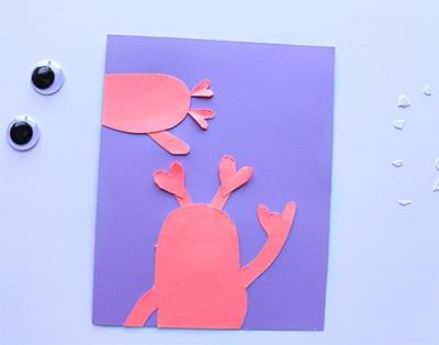 Как сделать открытку с монстрами?