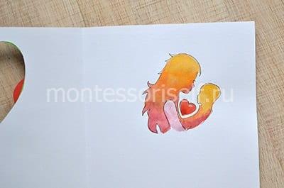 Рисуем или приклеиваем маму и малыша
