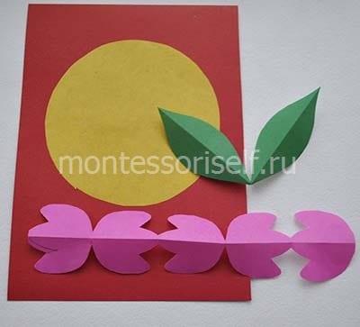 Делаем основу открытки и заготовки