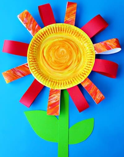 Цветок из одноразовой тарелки
