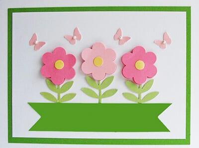 Аппликация цветы для мамы