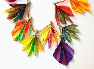 Осенняя гирлянда из бумажных листьев