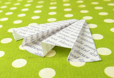 Юбка с плиссе из бумаги