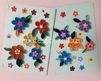 Открытки с цветами на 8 марта