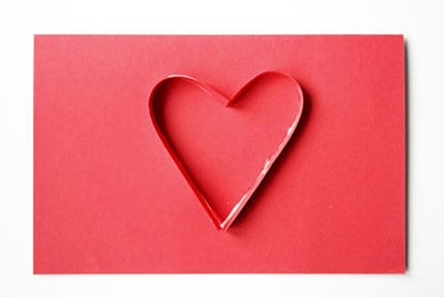 Сердечко из бумаги