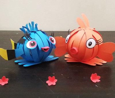 Рыбки из бумажных полосок