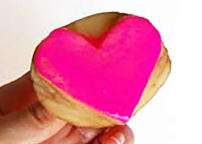 Печать сердечком
