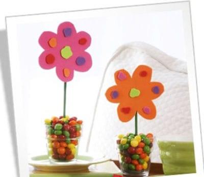 Цветочный горшок с конфетами