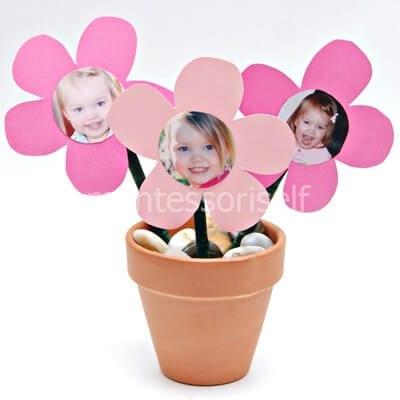 Цветок с фотографией на День Матери