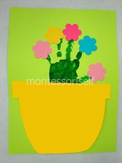 Цветок из ладошки