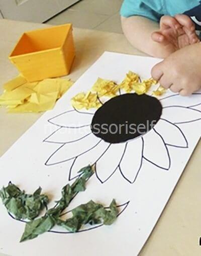 Выкладываем кусочки бумаги