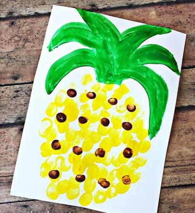 Точечный рисунок ананас