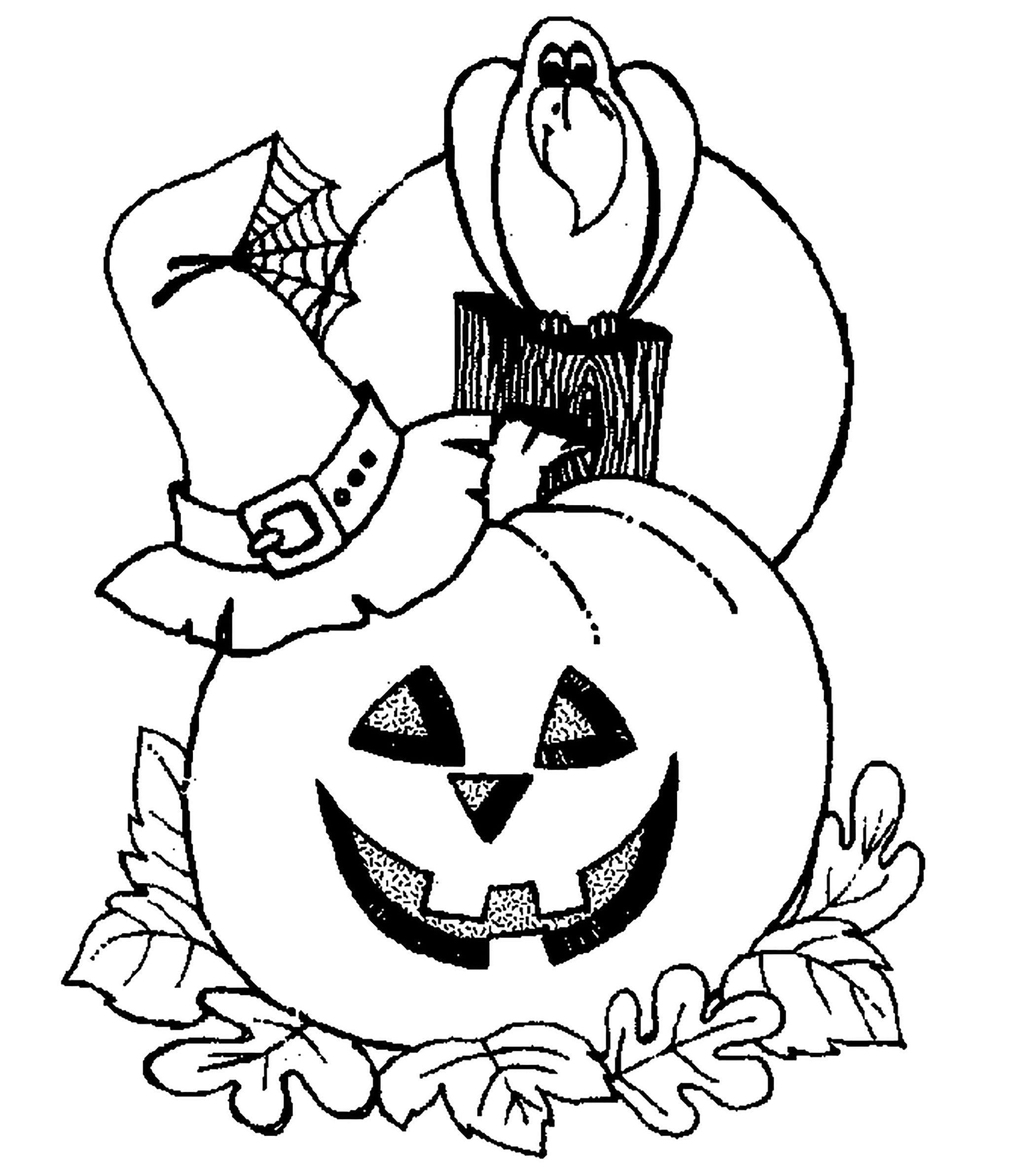 Раскраска на Хэллоуин