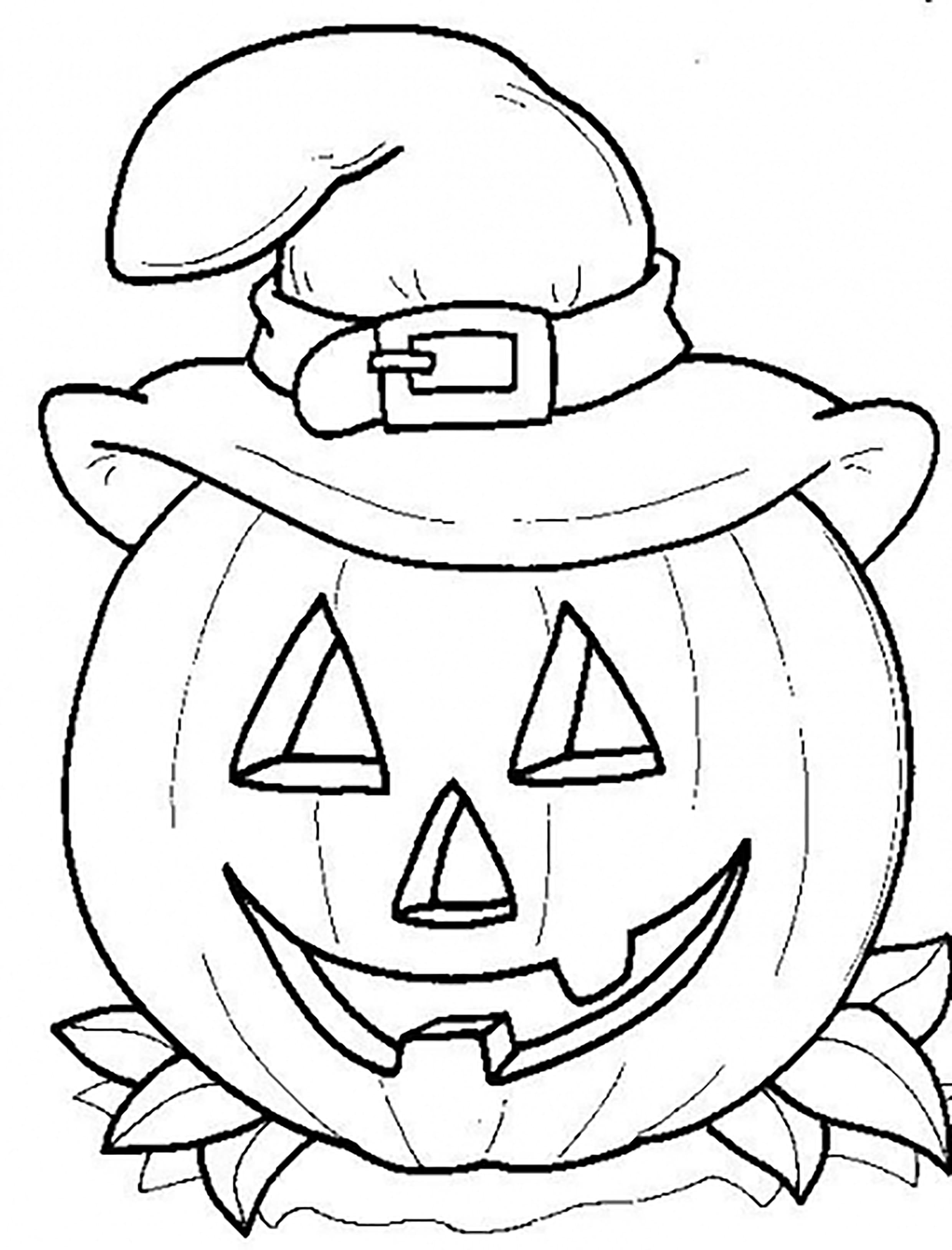 Coloring Pumpkin Jack