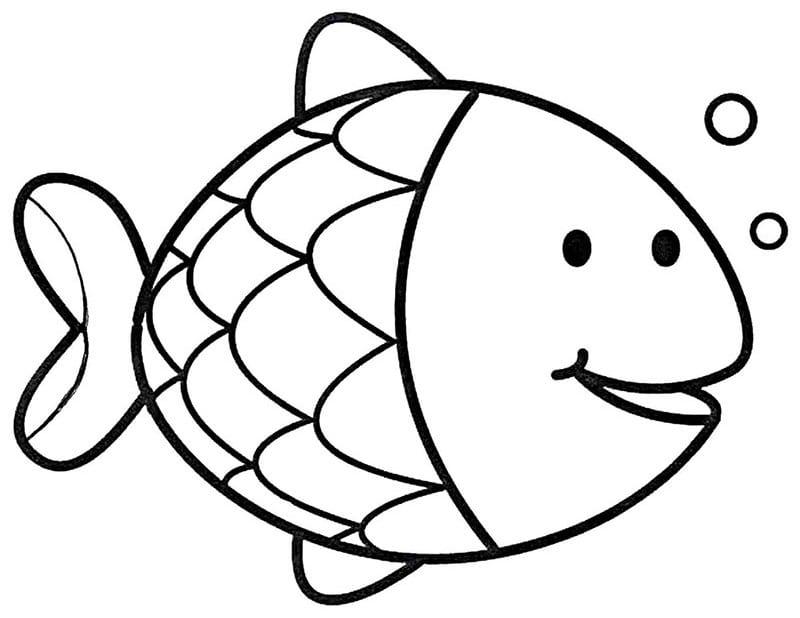 """раскраска """"рыбка"""""""