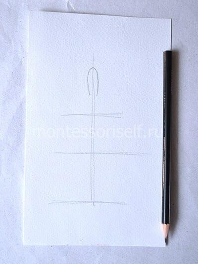 Делаем разметку карандашом
