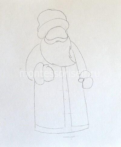 Детали костюма и руки