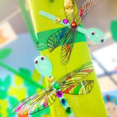 Dragonfly from the spoons .decorated with sequins