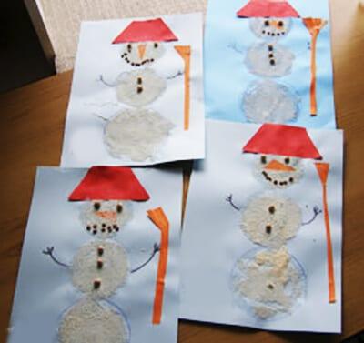 Снеговики из риса