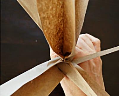 Раздвигаем полоски бумаги