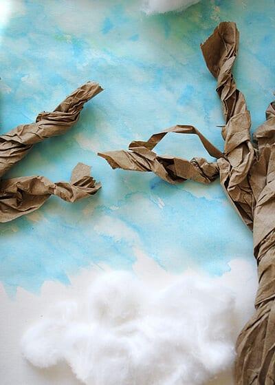 Бумажные ветки деревьев