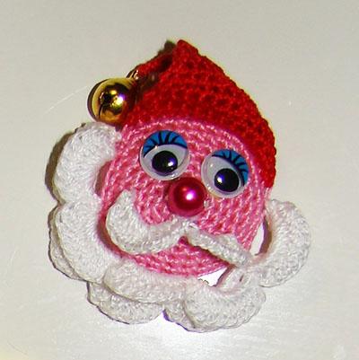 Сувенир Дед Мороз крючком