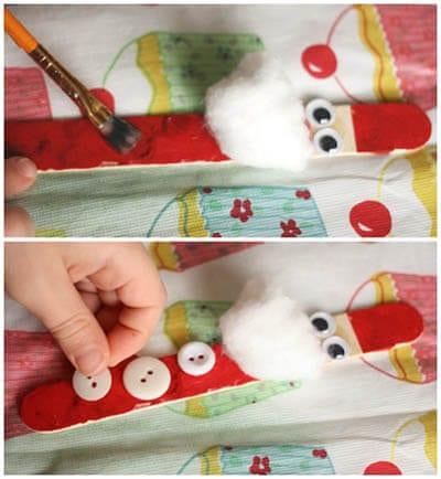 Дед Мороз из палочки от мороженого