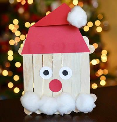 Дед Мороз из палочек от мороженого