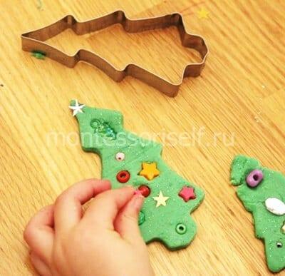 dn40-2 Аппликация из фетра своими руками для детского сада: Ёлочка
