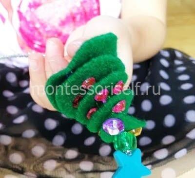 dn64-2 Аппликация из фетра своими руками для детского сада: Ёлочка