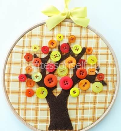 """Вышивка """"Осеннее дерево"""""""