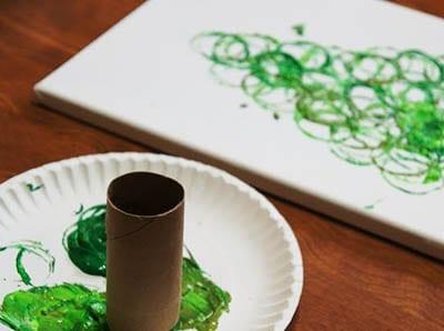Рисунок картонной трубкой