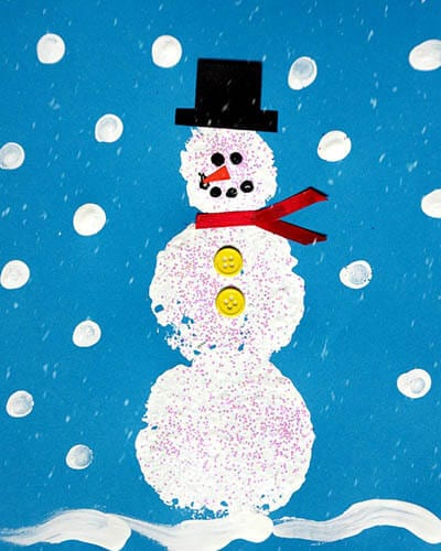 Рисунок снеговик своими руками
