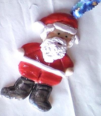 Дед мороз из теста