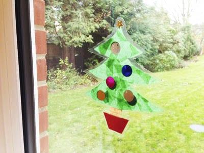 Новогоднее украшение на окно