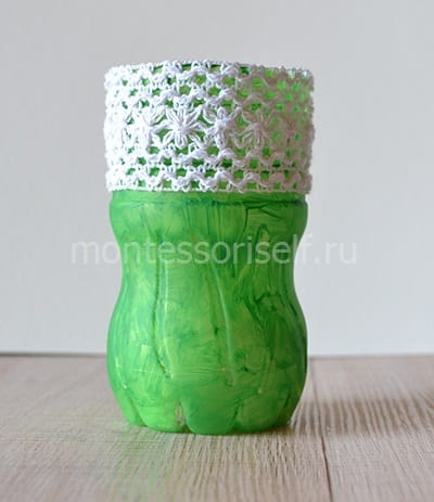 6-2 Новогодние игрушки из пластиковых бутылок (фото, мастер-классы)