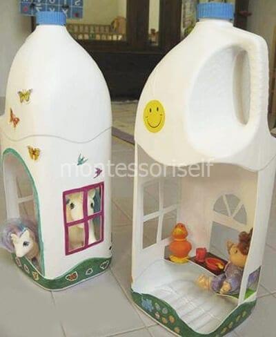 Кукольный домик из пластиковой бутылки