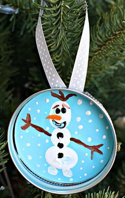 Рисунок снеговик на крыжке