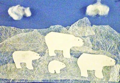 Аппликация северный полюс