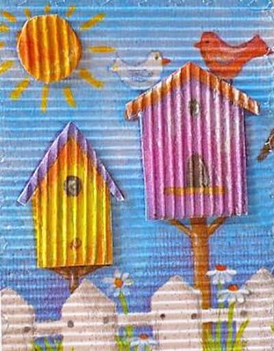 Картина из гофрированного картона