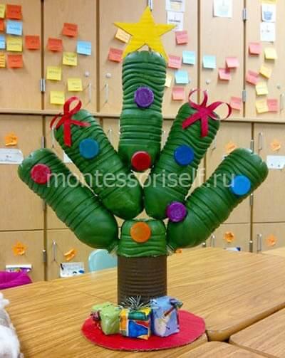 plast1-2-2 Новогодние игрушки из пластиковых бутылок (фото, мастер-классы)