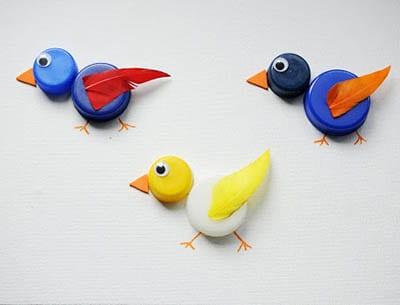 Птички из пробок