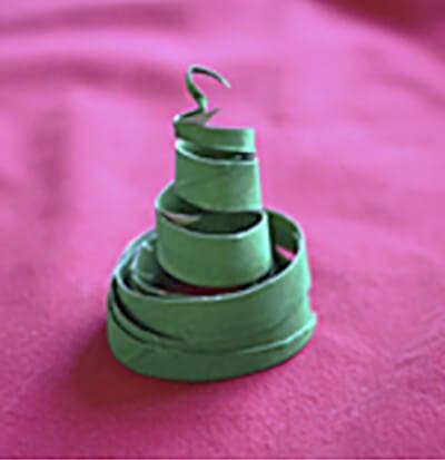 Спираль от рулона туалетной бумаги